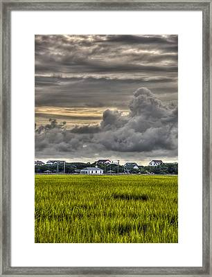Clouds Over The Chapel Framed Print by Ginny Horton