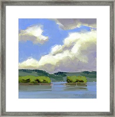 Clouds Over The Islands Framed Print