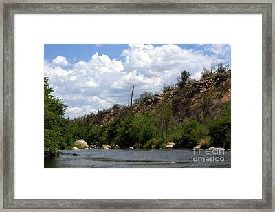 Clouds Over The Kern Framed Print