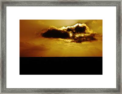 Clouds Over The Ocean Framed Print by Clayton Bruster