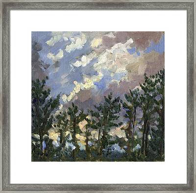 Clouds Over The Pines Tanglewood Framed Print by Thor Wickstrom