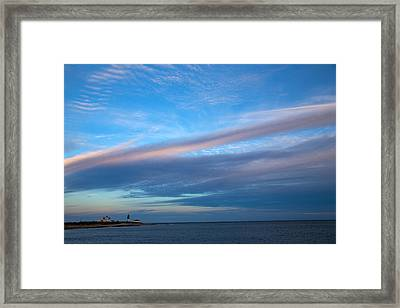 Clouds Over The Point Framed Print by Karol Livote