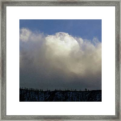 Clouds Over The Ridge Framed Print by Agustin Goba