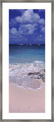 Clouds Over The Sea, Island Harbour Framed Print
