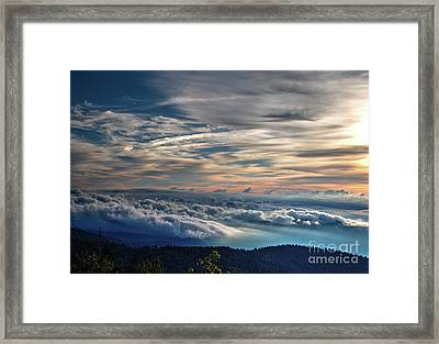 Framed Print featuring the photograph Clouds Over The Smoky's by Douglas Stucky