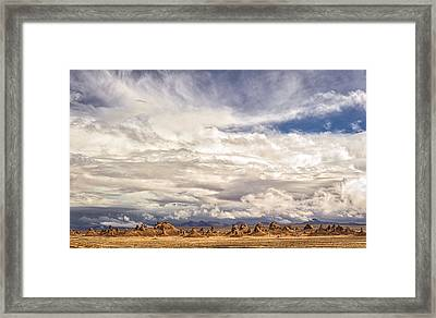 Clouds Over Trona Pinnacles Framed Print