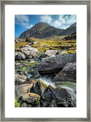 Clouds Over Tryfan Framed Print by Adrian Evans