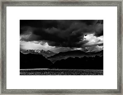 Clouds Over Ulswater Lake District Framed Print