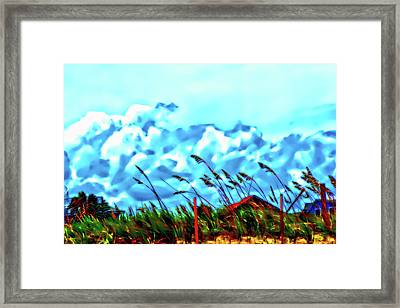 Clouds Over Vilano Beach Framed Print