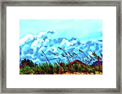Clouds Over Vilano Beach Framed Print