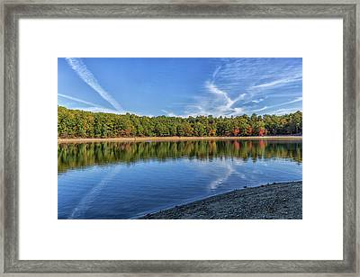 Clouds Over Walden Pond Framed Print by Brian MacLean