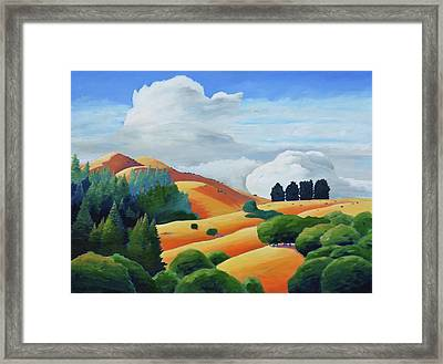 Clouds Over Windy Hill Framed Print by Gary Coleman