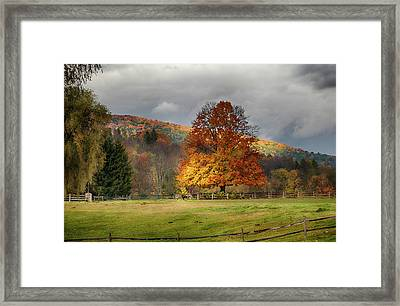 Clouds Part Over Marsh Billings-rockefeller Nhp Framed Print