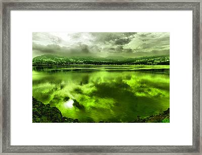 Framed Print featuring the photograph Clouds Reflecting Off The Columbia  by Jeff Swan