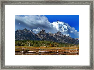 Framed Print featuring the photograph Clouds Rising by Diane E Berry