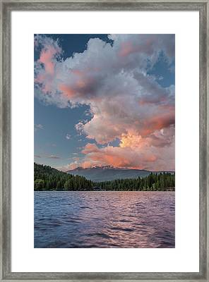 Clouds Rising From Shasta Framed Print by Greg Nyquist