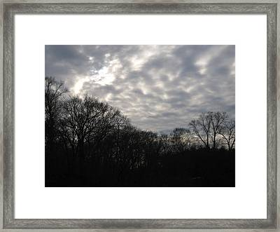 Clouds Roll Over The Sky Framed Print by Jennifer  Sweet