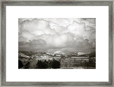 Clouds Rolling In 1 Framed Print