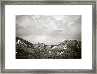 Clouds Rolling In 2 Framed Print