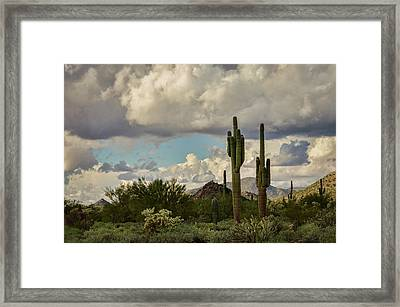 Clouds Rolling In  Framed Print