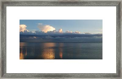 Clouds Framed Print by Steven Scott