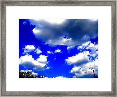 Clouds Study  1 Framed Print by Teo Santa