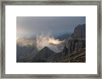 Clouds Sunset Framed Print