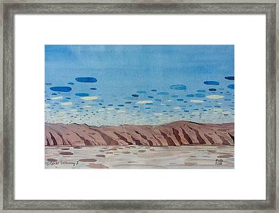 Clouds Swimming Framed Print by Vaughan Davies