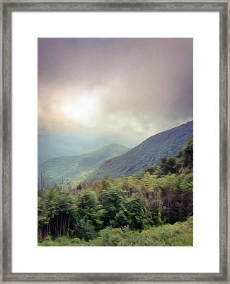 Clouds Upon Graybeard Framed Print