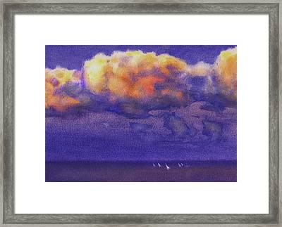 Clouds Framed Print by Valeriy Mavlo