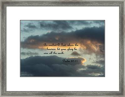 Clouds With Scripture Framed Print