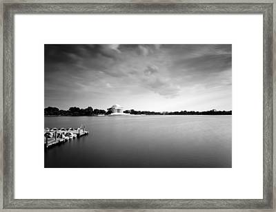 cloudscape and the Tidal Basin Framed Print