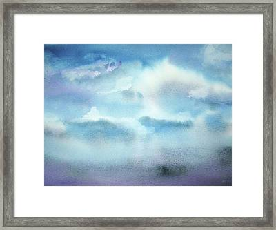 Framed Print featuring the painting Cloudscape by Ellen Levinson