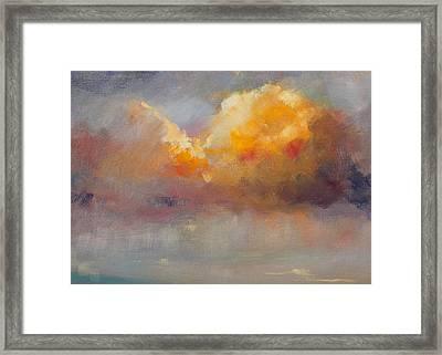 Cloudscape Framed Print by Nancy Merkle