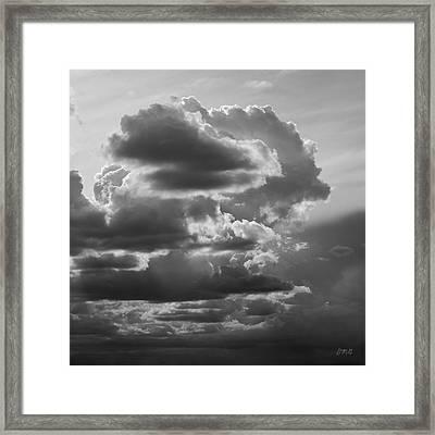 Cloudscape Xv Bw Sq Framed Print