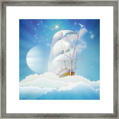 Cloudship Framed Print