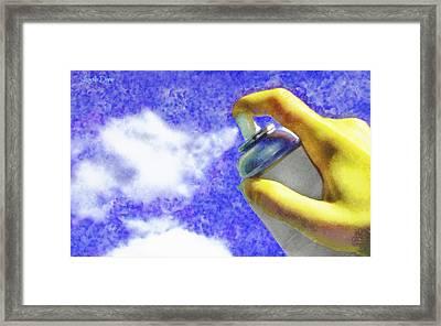 Cloudspreading - Da Framed Print by Leonardo Digenio