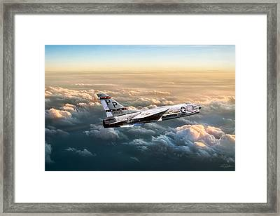 Cloudtop Crusader Framed Print