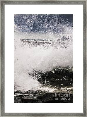 Cloudy Bay Storms And Turbulent Seas Framed Print by Jorgo Photography - Wall Art Gallery