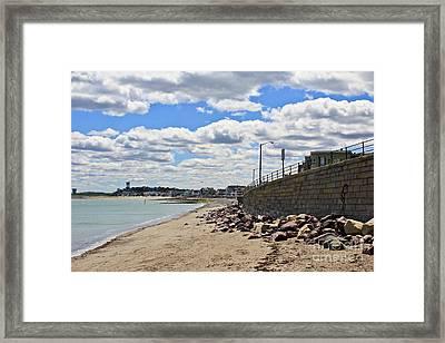 Cloudy Beach Framed Print