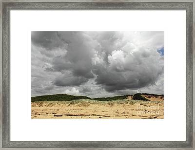 Framed Print featuring the photograph Cloudy Beach II By Kaye Menner by Kaye Menner