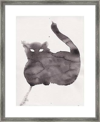 Framed Print featuring the painting Cloudy Cat by Marc Philippe Joly