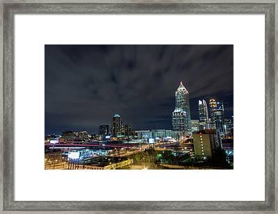 Cloudy City Framed Print