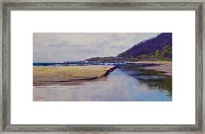 Cloudy Coastline Framed Print