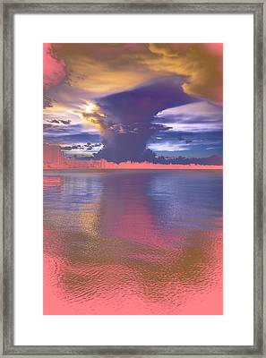 Cloudy Colors Framed Print
