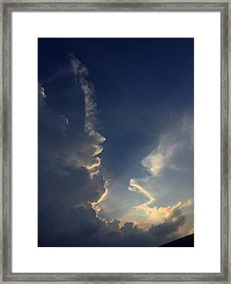 Cloudy Conversation Framed Print