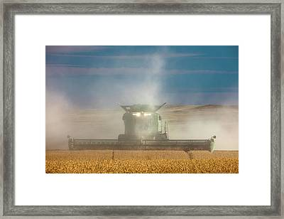 Cloudy Cutting Framed Print by Todd Klassy