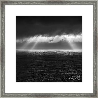 Cloudy Day At The Sae Framed Print