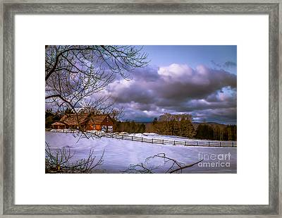 Cloudy Day In Vermont Framed Print