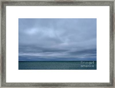 Cloudy Day On Michigami Framed Print by Thomas R Fletcher